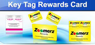 key tag reward card