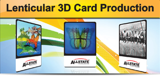 lenticular 3D card production