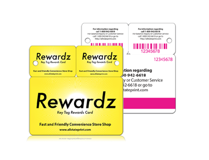 membership card printing rewards pluss one keytag
