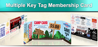 multiple key tag membership card
